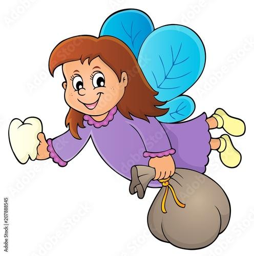 Canvas Voor kinderen Tooth fairy theme image 1