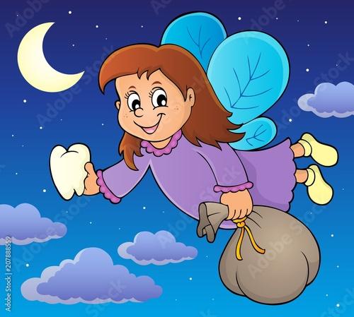 Canvas Voor kinderen Tooth fairy theme image 2