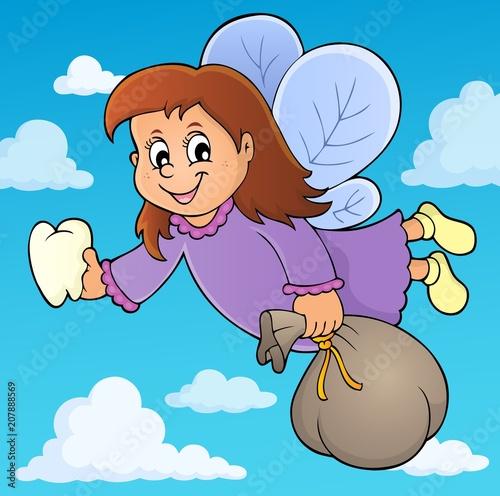 Canvas Voor kinderen Tooth fairy theme image 3