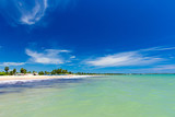 Beautiful beach. Summer holiday and vacation concept background. Tourism and travel - 207891147