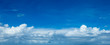 blue sky background with tiny clouds. panorama - 207891583