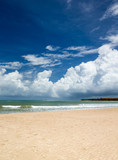 sea and beach background with copy space - 207892185