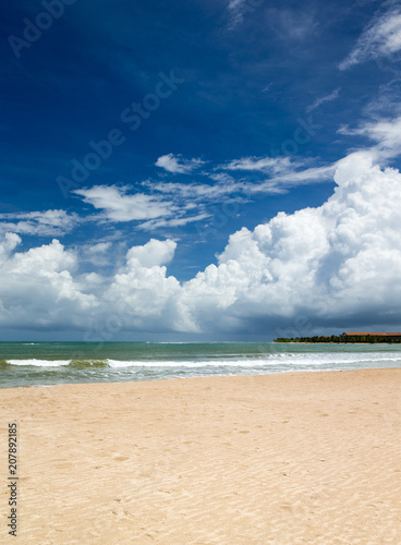 sea and beach background with copy space