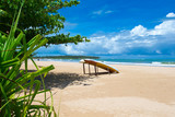 Beautiful beach. Summer holiday and vacation concept background. Tourism and travel - 207892374