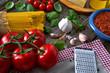 Leinwanddruck Bild - Italian Spaghetti pasta cheese tomato garlic basil