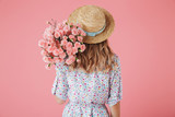 Back view portrait of a young woman in summer dress - 207899309