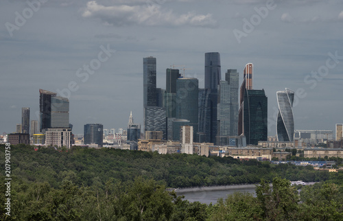 Fotobehang Moskou Moscow City Complex View on Buildings