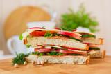 appetizing sandwich closeup