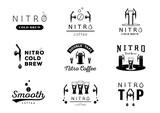 nitro cold brew coffee logo design - 207909783