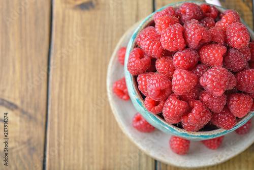 Foto Murales Fresh raspberries
