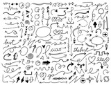 hand draw arrow vector set - 207924964