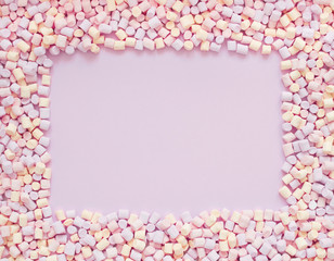 multicolored marshmallows, candy background
