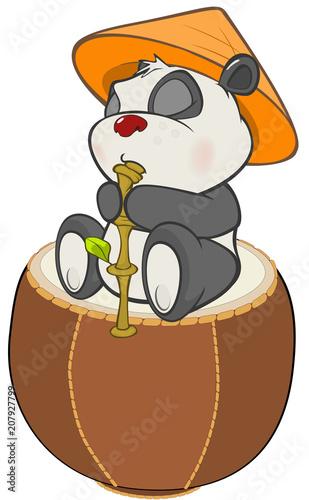 Aluminium Babykamer Illustration of a Cute Panda. Cartoon Character
