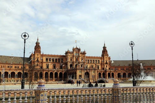 Seville, Spain. Spanish Square, Plaza de Espana