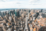 New York skyline aerial view