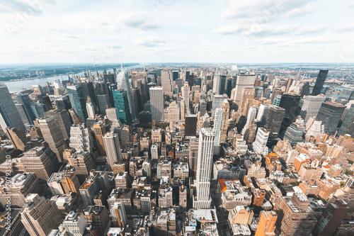 Aluminium New York New York skyline aerial view