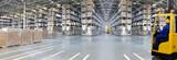 Huge distribution warehouse with high shelves - 207935735