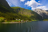 Village in fjord Sognefjord - Norway - 207937538