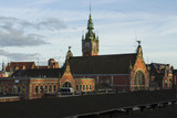The beautiful building of the Central railway station in Gdansk. Poland