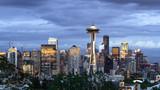 Seattle downtown skyline buildings evening - 207944128