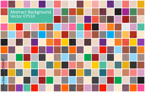 Fotobehang Abstractie Art Colorful tiles abstract background