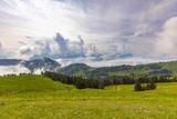 View to Swiss Alps from Rigi Kulm