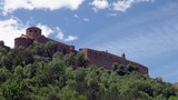 View from Afar of the Church in Cardona Spain - 207948511