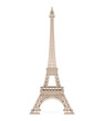 Leinwanddruck Bild - Eiffel Tower Isolated