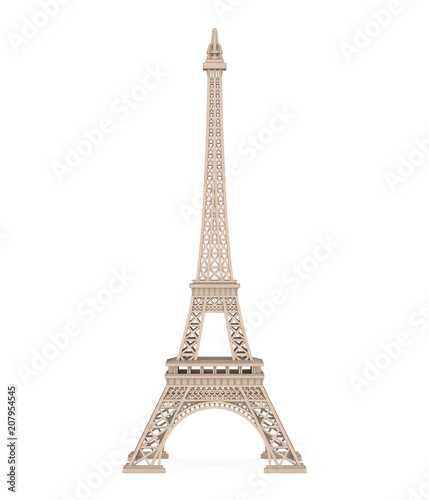 Leinwanddruck Bild Eiffel Tower Isolated