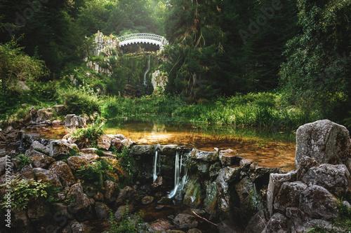 The devil's bridge in the mountain park Bergpark Wilhelmshoehe in Cassel - Germany - 207957177