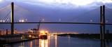 Savannah harbor by night, Georgia, USA - 207963754