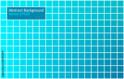 Fotobehang Abstractie Art Blue tiles geometric background