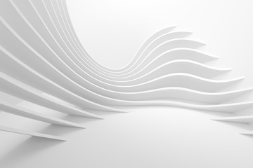 White Architecture Circular Background. Modern Building Design © Max Krasnov