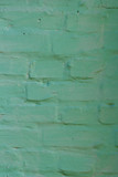 Background painted green paint old brick wall texture - 207978721