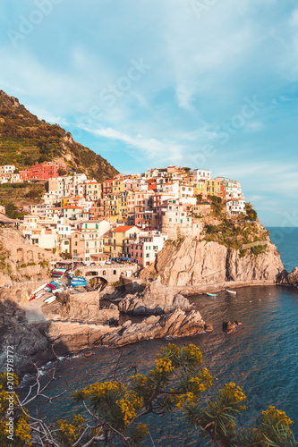 Village of Manarola, Cinque Terre Coast of Italy