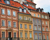 Beautiful houses of Warsaw