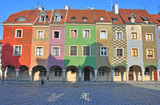 Colorful houses on main square of Poznan