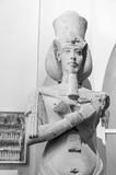 A Statue of Pharaoh Akhenaten (Amenhotep IV) - ancient Egyptian in 12 Apr 2015, Egyptian Museum Cairo