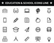 Education and School Icon Set Vector