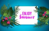 Enjoy summer blue card - 207991511