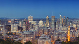Montreal's skyline, the view from Mont Royal, Quebec, Canada.