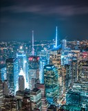 New York, Manhattan at night