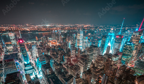 New York, Manhattan at night