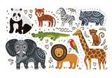Jungle animals hand draw - 207997530
