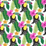 Summer tropical seamless pattern - 207997975