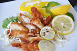Fried Chicken with Fresh Lemon Dish - 208017721
