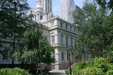New York City Hall and surrounding garden