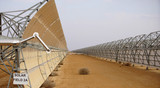 industrial landscape solar batteries in the desert - 208022523