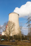 cooling tower with blue sky - 208029506