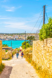 a narrow passage in the maltese countryside - 208033348